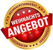 """Button Banner """"Weihnachtsangebot"""" Kugeln rot/gold"""