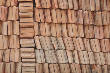 Stack tile for roof.
