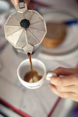 Italian coffee brewing