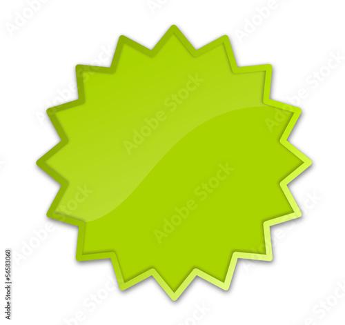 Button Stern grün