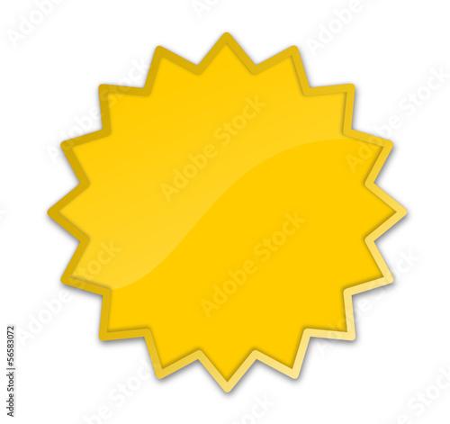 Button Stern gelb
