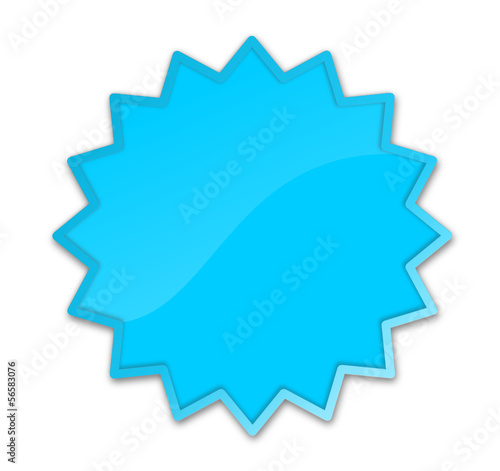 Button Stern blau