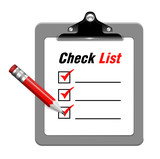 Vector illustration of check list