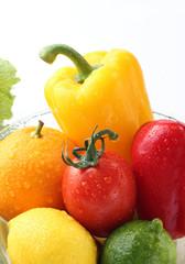 野菜と果物のアップ