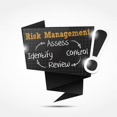 origami speech bubble : risk management