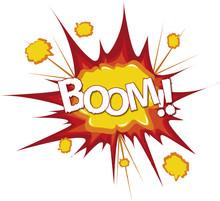 explosion de bande dessinée comique de Boom Bang