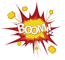 Boom bang comic cartoon explosion