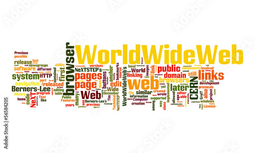 world wide web text cloud