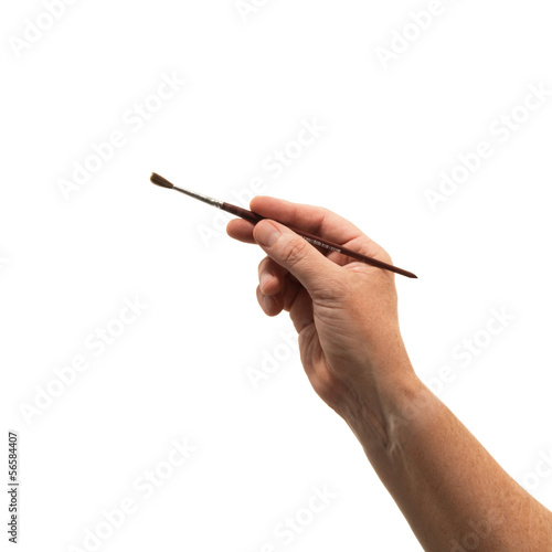 mano con pennello