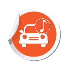 Car service. Car with music icon
