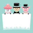 Fly Agaric, Chimney Sweep & Pig Label Retro