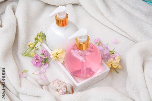Soap and lotion bottles