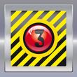 Alarm schwarz gelb rot 3