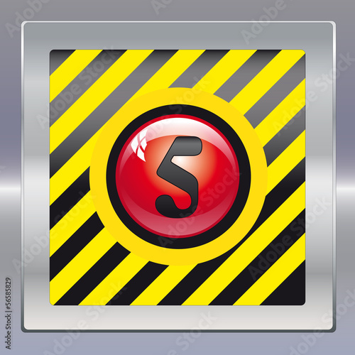 Alarm schwarz gelb rot 5