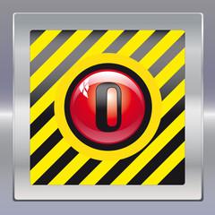 Alarm schwarz gelb rot 0