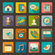 Flat icons set for Web and Mobile Applications