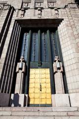 Entrance door of the railway station of Hensinki - Finland