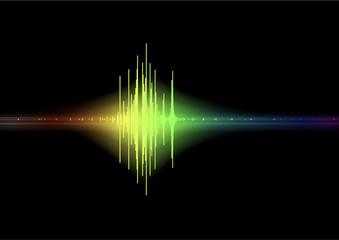 Graphique son - réception d'un signal avec ambiance lumineuse