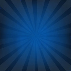Dark Blue Background With Sunburst