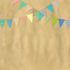Vintage Paper And Bunting Flags
