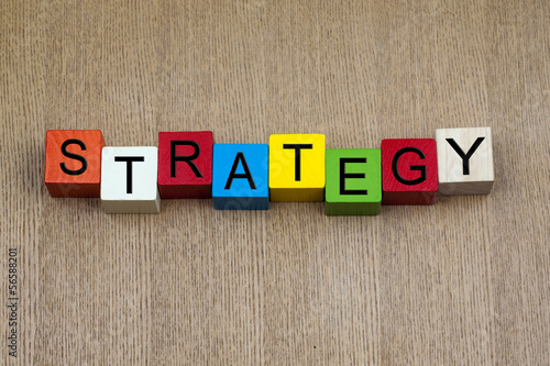Strategy - business sign