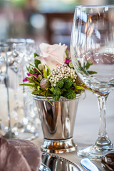 crystal, silver and wild flowers