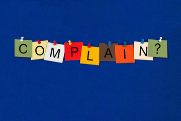 Complain - Business Sign