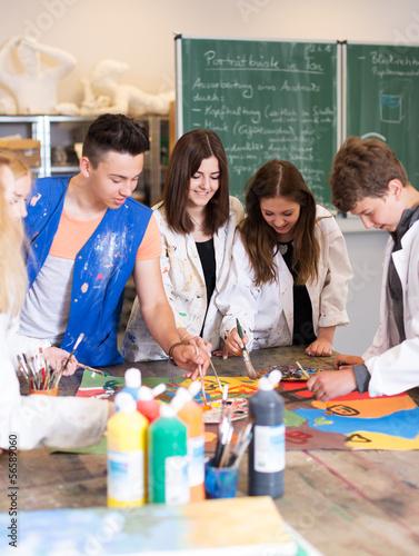 canvas print picture Kunstunterricht in der Schule
