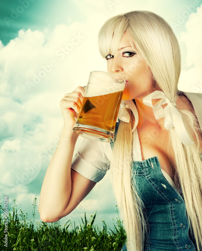 Beautiful oktoberfest young sexy woman