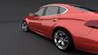 Rückansicht Limousine rot