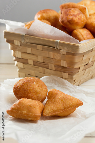 Small homemade Bosnian doughnuts