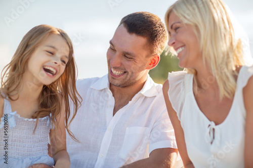 happy family having a picnic
