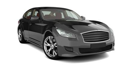Limousine schwarz freigestellt