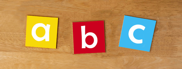 a b c - sign series for school children - panorama
