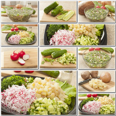 collage hash vegetable foods