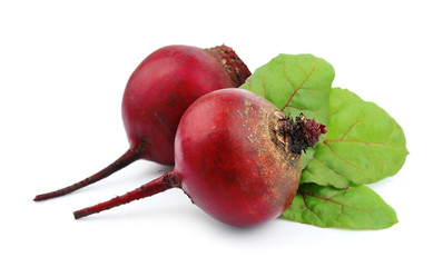 red beets with leafs