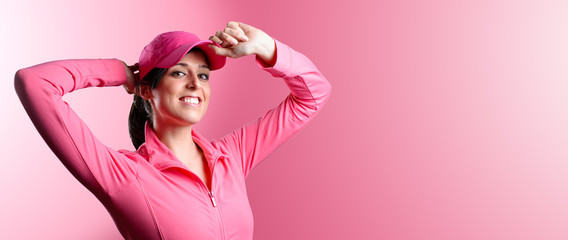 Fitness and sport woman banner