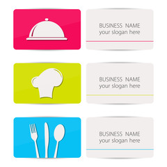 Business card, restaurant