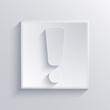 Vector light square icon. Eps 10