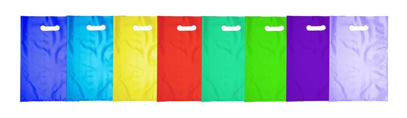 Plastic bag on white
