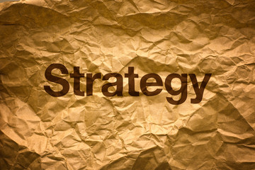Strategy on Crumpled paper