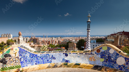 canvas print picture Park Güell