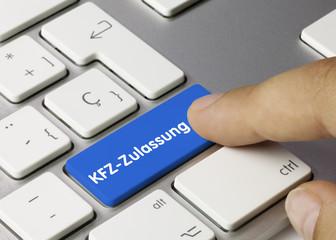 KFZ-Zulassung Tastatur