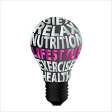 bulb-of-diet-relax-nutrition-lifestyle-exercise-health