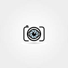 Vector camera eye icon