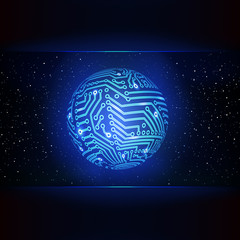 Circuit board background. Global networking concept.