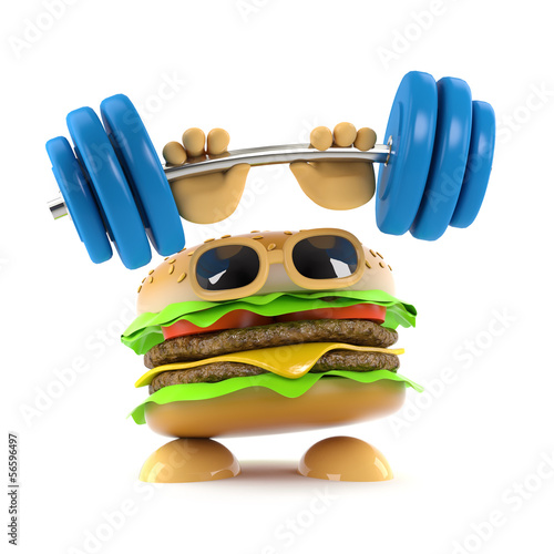 Burger is weightlifting again