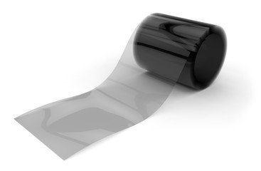 Roll of transparent film