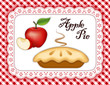 Apple Pie, Eyelet Lace Doily Mat, red gingham check background