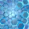 Hexagon tubes background